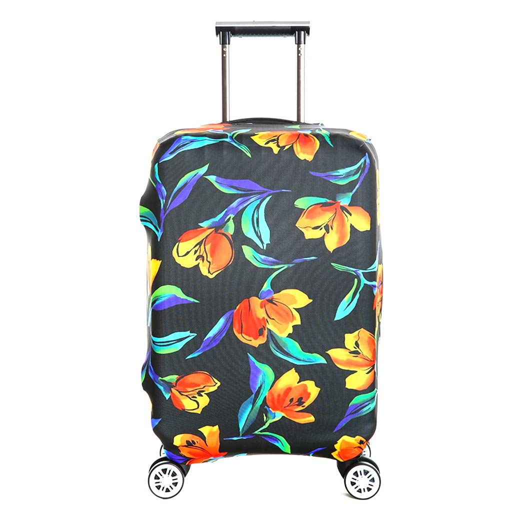 Fvstar Washable Luggage Cover Spandex Travel Suitcase Protective Cover Luggage Dust Proof Cover