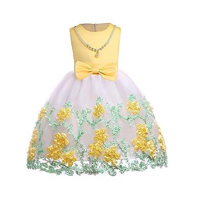 Kobay Baby Mädchen Gestickt Prinzessin Brautjungfer Festzug Geburtstagsfeier Hochzeit Mesh Tutu Kleid