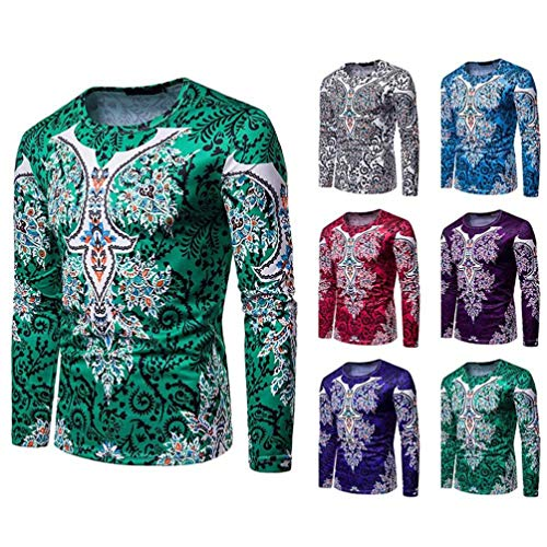 Top Rond Pull Chic Tops Sport Grande Éolienne Blouse 2 Impression Mode Nationalité Hommes Nationale Haut Vert Sweat Taille Vêtements Hiver Casual Col Manches Longues Automne Adeshop a5TRqwBHB