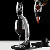 Shoze Magic Decanter Red Wine Aerator & Stand Fast Deluxe Set for Oxygenating and Decanting Wine