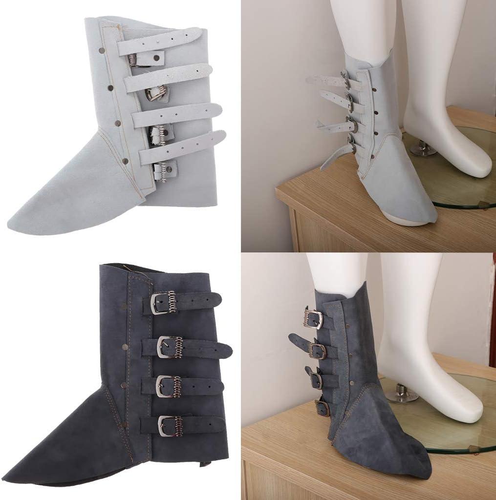 Blau Hitzebest/ändig Schwei/ßer Gamaschen Schuhe Abdeckung mit Stabilem Metall Schnalle