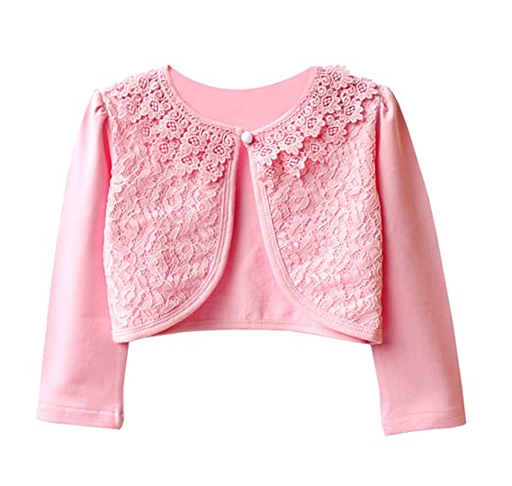 a2b2bf2fd Amazon.com  YuPing Little Girls  White or Pink Long Sleeve Lace ...