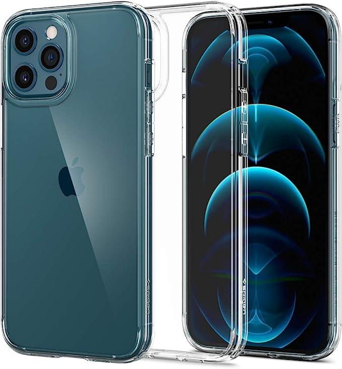 Spigen Ultra Hybrid Hülle Kompatibel Mit Iphone 12 Pro Max Crystal Clear Elektronik