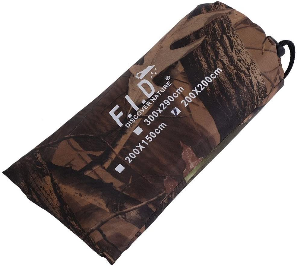 Alomejor Waterproof Army Camo Tent Tarp Portable UV Tear Resistant Cover For Camping Hiking Picnic