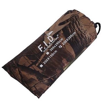 Alomejor Zelt Camouflage Plane Wasserdichte Plane Cover Leicht Sun Shelter Abdeckung Sonnensegel f/ür Camping Wandern Outdoor Travel