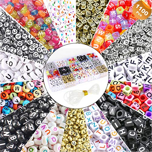 EuTengHao 1100 Pieces Mixed Acrylic Alphabet