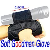 Tonelife Neoprene Goodman Style Glove 03 Torches Holder Universal Adjustable Hand and Arm Strap Waist Strap Soft Hand Mount for Led Flashlight Scuba Lamp (Glove Only,No Torch)