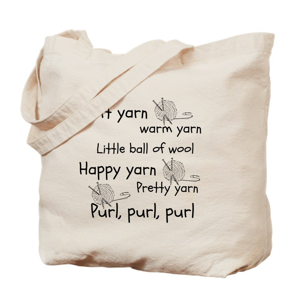 CafePress – Soft Kitty For Knitters – ナチュラルキャンバストートバッグ、布ショッピングバッグ M ベージュ 17720681626893C B073QV2BCZ  M