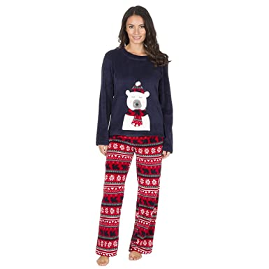 de7f774523 Ladies Christmas Fleece Pyjamas