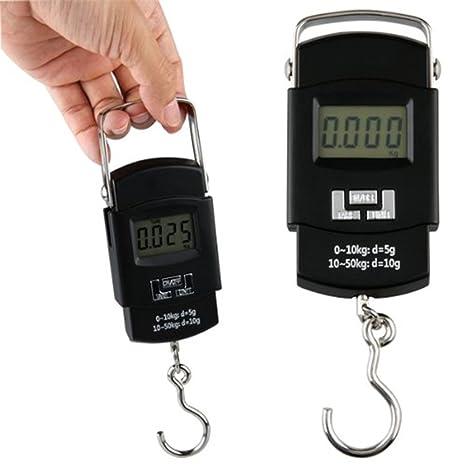 Grúa Digital escala colgante peso medida 50 kg * 10g gancho pantalla LCD Precisión multifunción báscula