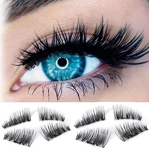 JahyShow 8PCS Reusable Fake Lashes, New False Magnetic Eyelashes Set for Natural Look - Perfect for Deep Set Eyes & Round - Canada Silvia