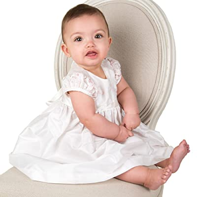 """Baby Beau & Belle """"May Lin"""" Christening and Baptism Short Gown Set"""