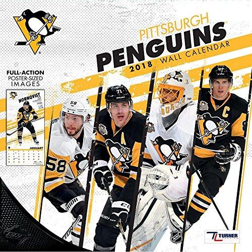 2018 Pittsburgh Penguins Wall Calendar
