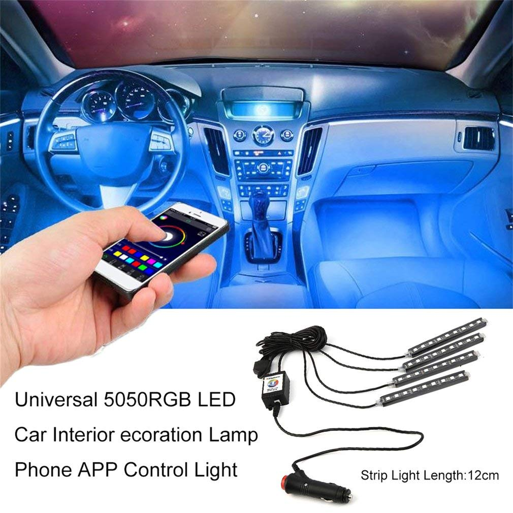 YTYC Universal 5050RGB LED Car Interior ecoration Lamp Phone APP Control Light by YTYC
