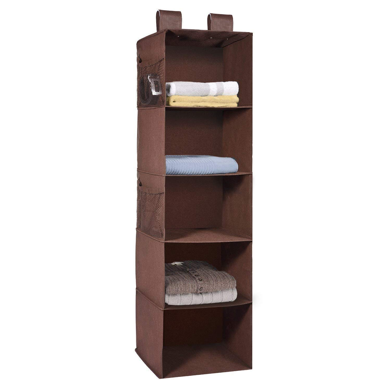 MaidMAX Organizador de tela para colgar en el armario, estante colgante de tela con 2