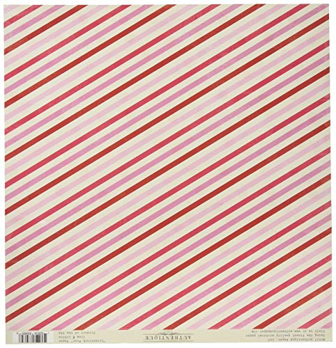 Authentique Paper Multi Dot/Red, White & Pink Stripe Lovestruck Double-Sided Cardstock 12