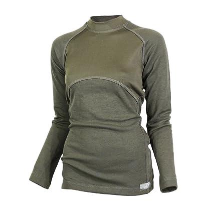 Raptor Caza soluciones Merino Lana térmica señoras Ropa Interior Capa Base Top Manga Larga Camiseta Verde