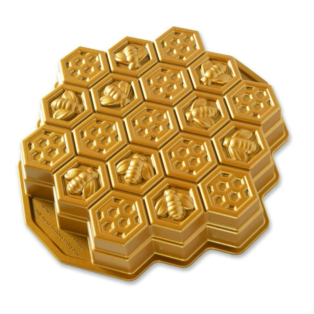 Nordic Ware 85477 Honeycomb Pull - Apart Pan, One Size, Gold by Nordic Ware