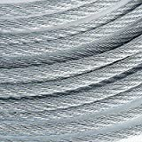 3/8'' 14400 lb Galvanized Aircraft Cable Steel Wire Rope 7x19 (800 Feet)