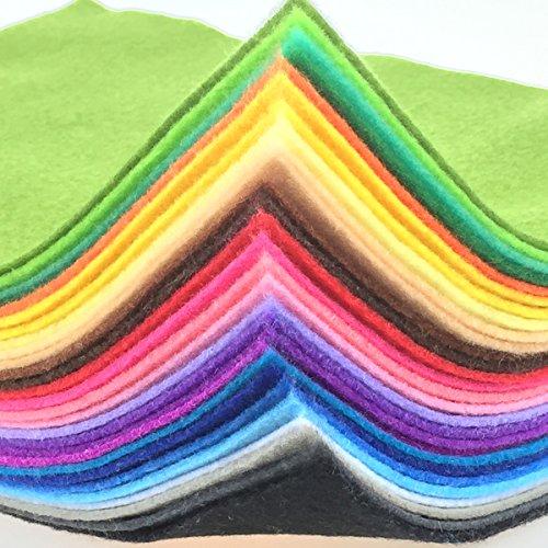28pcs Thick 1.4mm Soft Felt Fabric Sheet Assorted