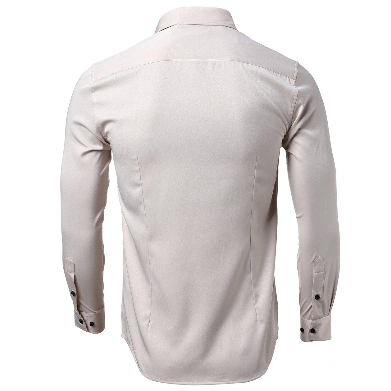 e417b44981c KelaSip Camisa para Hombres Transpirable Manga Larga Color Sólido ...