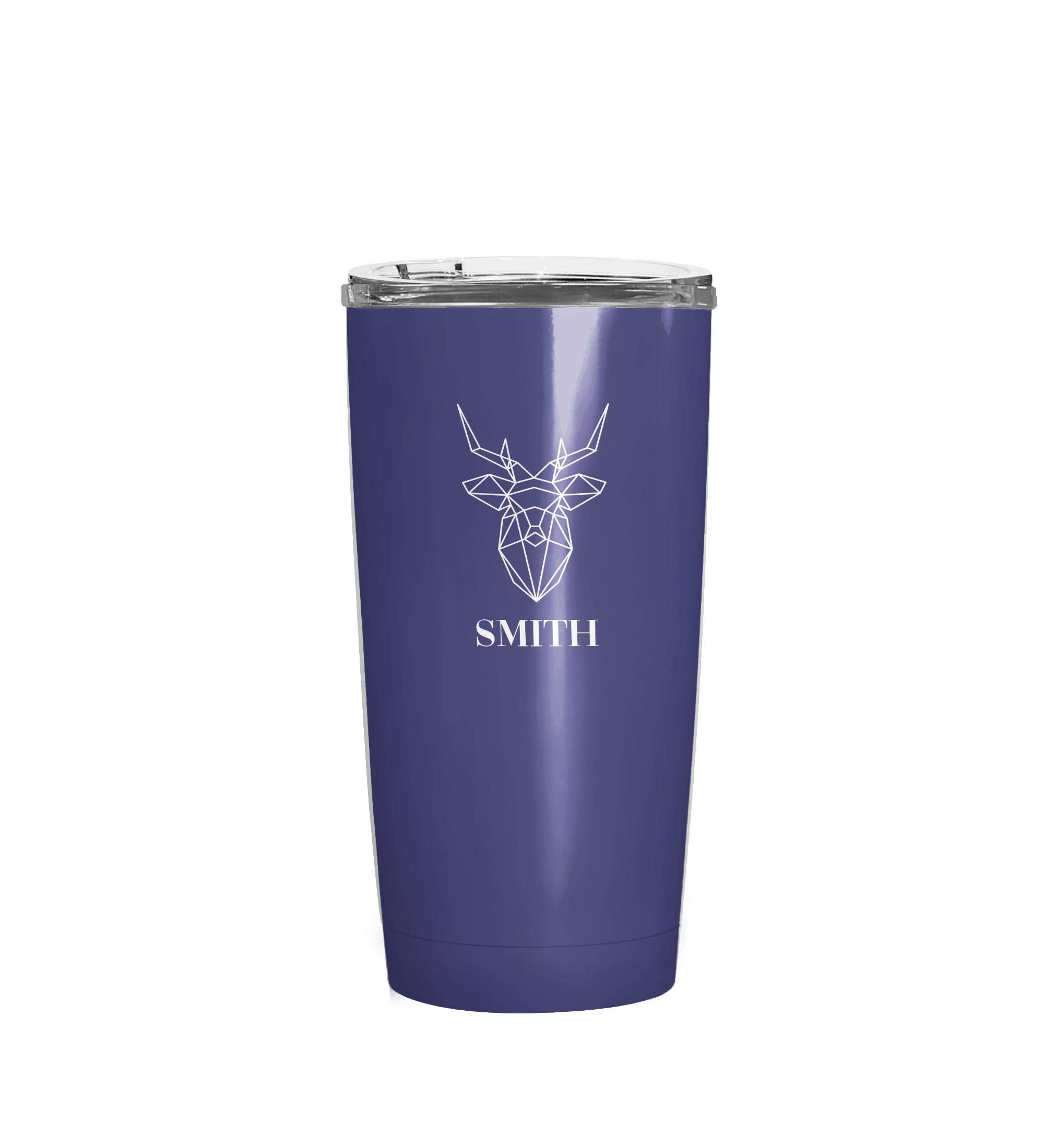 Animal Logo Personalized Stainless Steel Heavy Duty Extra Durable Double Walled Insulated Travel Coffee Tumbler Thermo Mug For Men with Crystal Clear Vacuum Sealed Lid (20oz Tumbler)