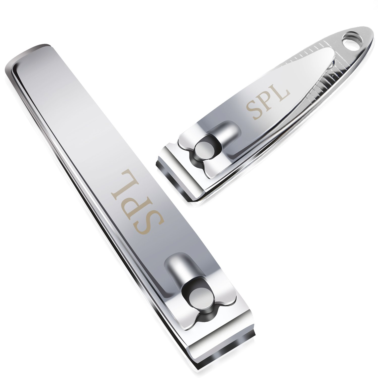 SPL Professional Fingernail and Toenail Clippers, Manicure and Pedicure tool, Set of 2 pcs (Small Large) Surgical Stainless Steel Cutter for Men and Women