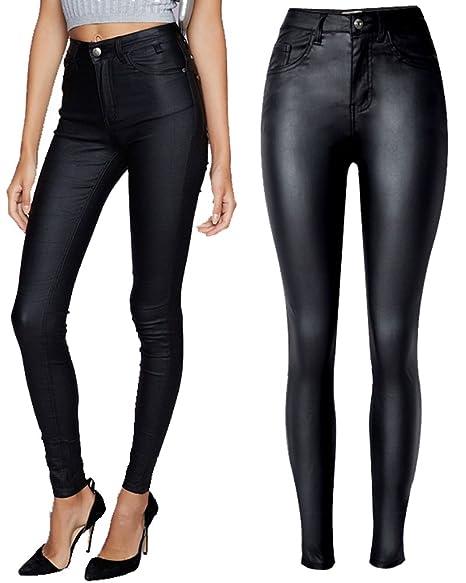 Amazon.com: lexiart Mujeres Alta Cintura Denim Pantalones de ...