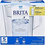 Brita 689358587687 Water Pitcher, Slim, 5 Cup Capacity, Includes One Advanced Filter - White Size
