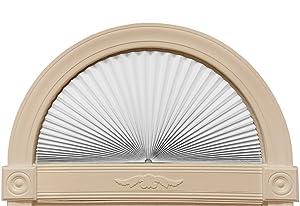 "Original Arch Light Blocking Fabric Shade, White, 72"" x 36"""