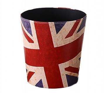 d5d6baa25c21 【Rurumi】ユニオンジャック アンティーク ゴミ箱 ダストボックス イギリス アメリカ 国旗 くずかご (ユニオンジャック)