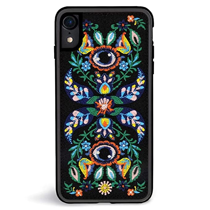 promo code ca455 46b25 Zero Gravity iPhone XR Venus Phone Case - Floral and Vines Embroidery -  360° Protection, Drop Test Approved