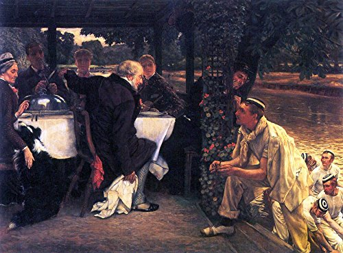 The Museum Outlet - The Prodigal Son in Modern Life- The fattened calf by Tissot - Canvas Print Online Buy (30 X 40 Inch)]()