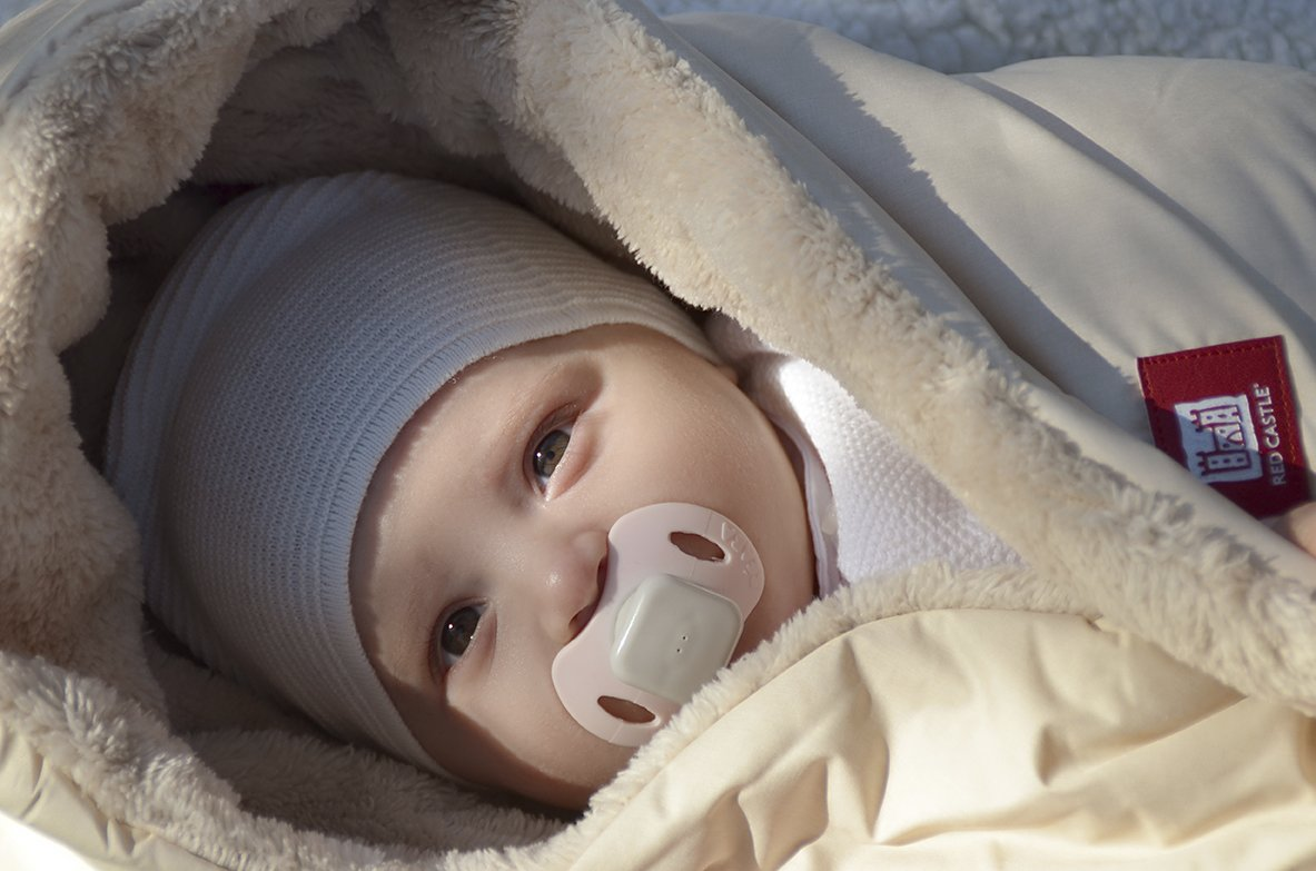 Cobertura polar de bebe con capucha color beige Red Castle 0836155