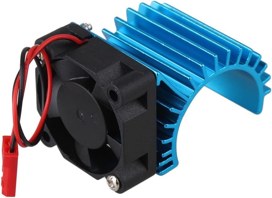 Mxfans 308006 Blue Aluminum Alloy 380 Motor heatsink with Fan for RC 1:16 Car Motor Heat Sink