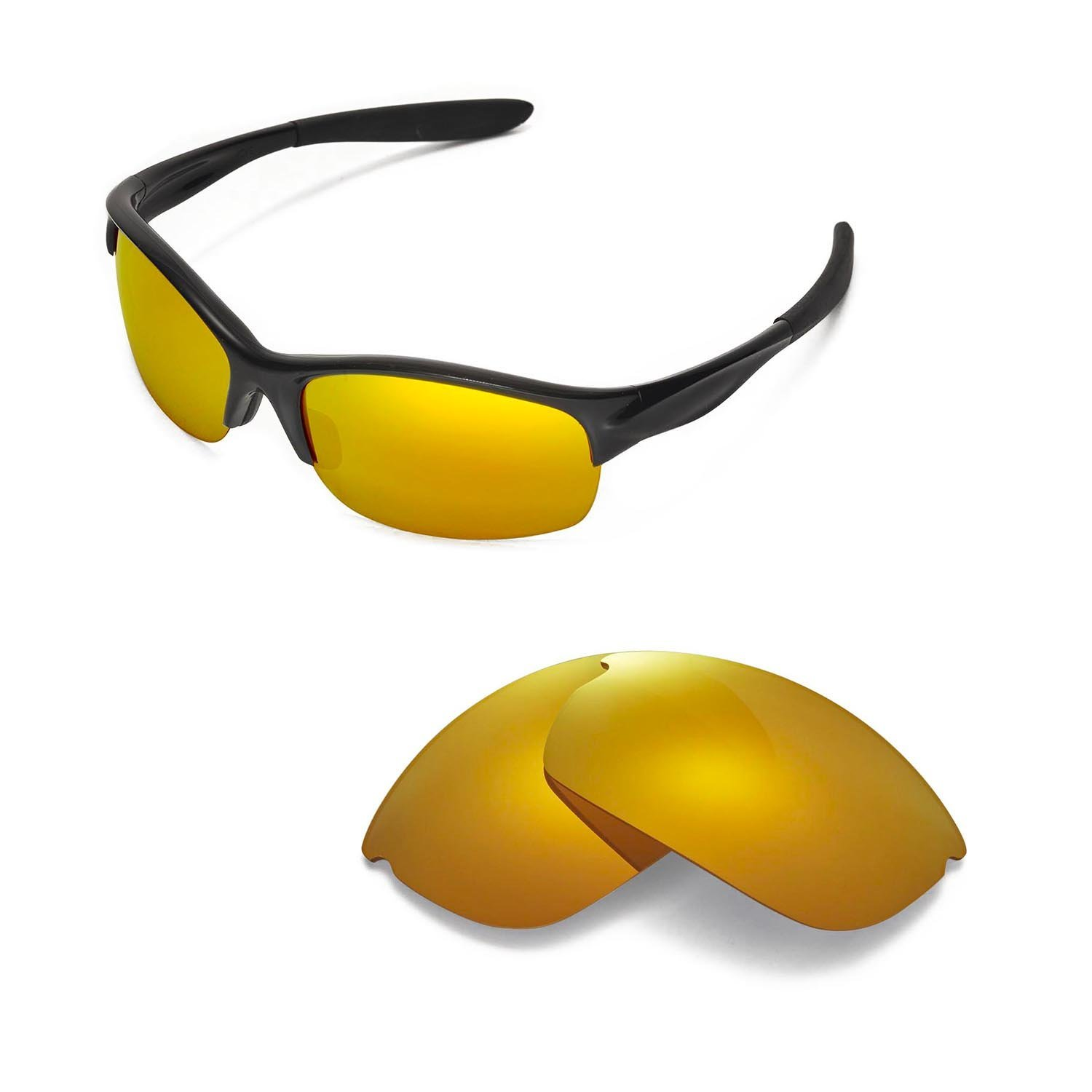 e97ab1b8504 Amazon.com  Walleva Replacement Lenses for Oakley Commit SQ Sunglasses -  Multiple Options Available (24K Gold Mirror Coated - Polarized)  Sports    Outdoors