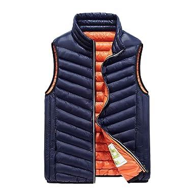 bis zu 80% sparen mäßiger Preis attraktive Farbe MAYOGO Daunen Jacken Westen für Männer, Daunenjacke Herren ...
