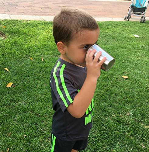 Stainless Steel Kids oz. with Sleeves - Stainless Sippy Cups Home Outdoor BPA Free Healthy Unbreakable Premium Drinking Glasses