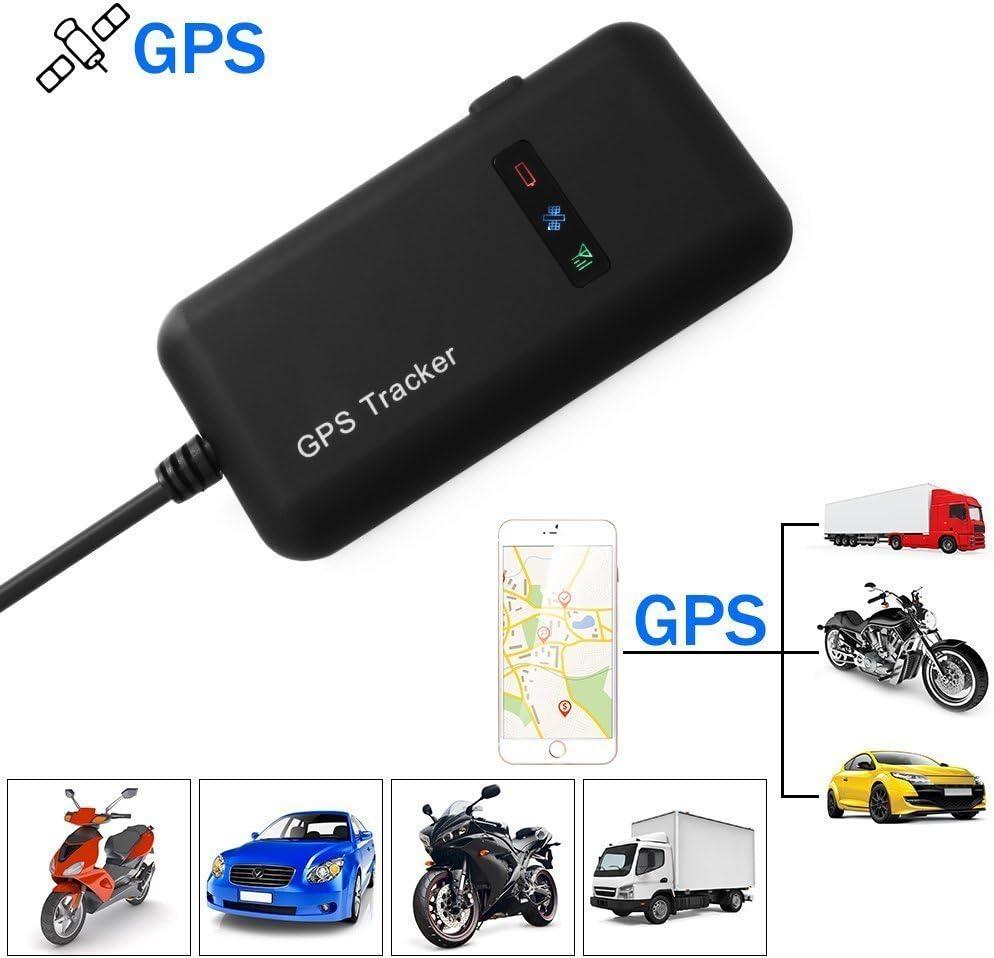GPS Tracker Auto Camión Vehículo Motocicleta Rastreador GPS Tiempo Real - Rastreo Antirrobo Seguimiento de Dispositivo GPS para Google Link GT02A