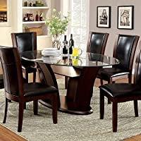 247SHOPATHOME Idf-3710OT-7PC Dining-Room, 7-Piece Set, Dark Walnut/Espresso