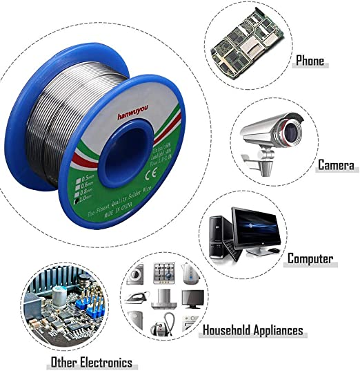 100g 0.7mm 60//40 Tin Lead Soldering Wire Reel Solder Rosin Core