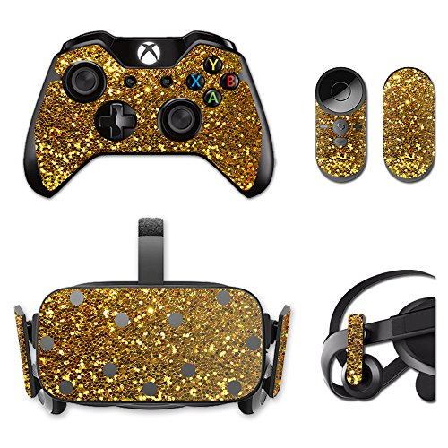 MightySkins Skin for Oculus Rift CV1 – Gold Dazzle | Protective, Durable, and Unique Vinyl Decal wrap Cover | Easy to Apply, Remove, and Change Styles | Made in The USA