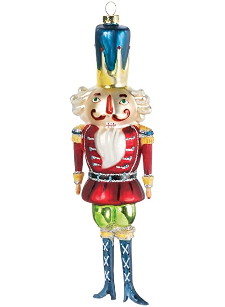 nutcracker soldier vibrant classic large 8 inch glass christmas ornament