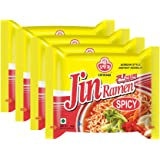 Ottogi Jin Ramen Instant Noodles, Spicy, 120g, Pack of 5
