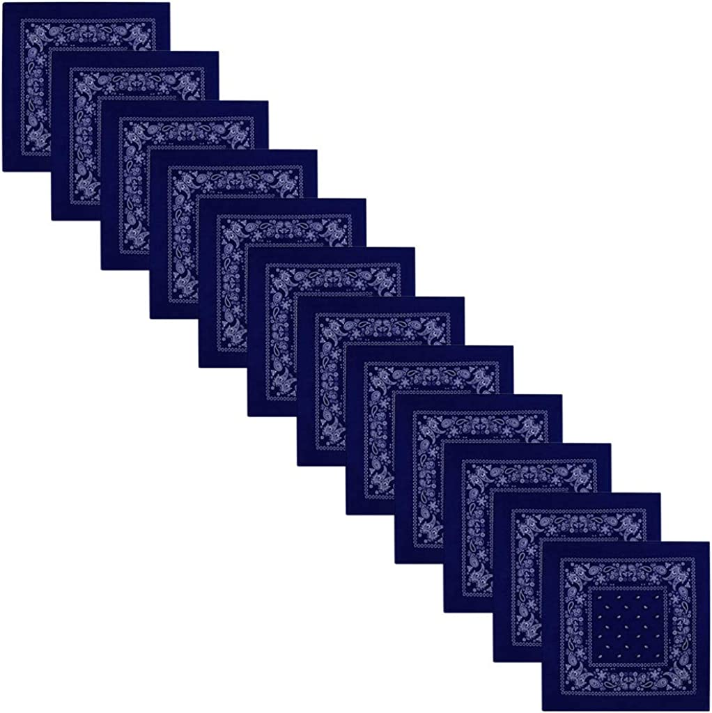 M/änner und Kinder Mode-Accessoires Set f/ür Frauen CRE87 12er Set Paisley Bandana Halstuch Bindetuch Haar Schal Ansatz Handgelenk Verpackungs Band Kopf Bindung