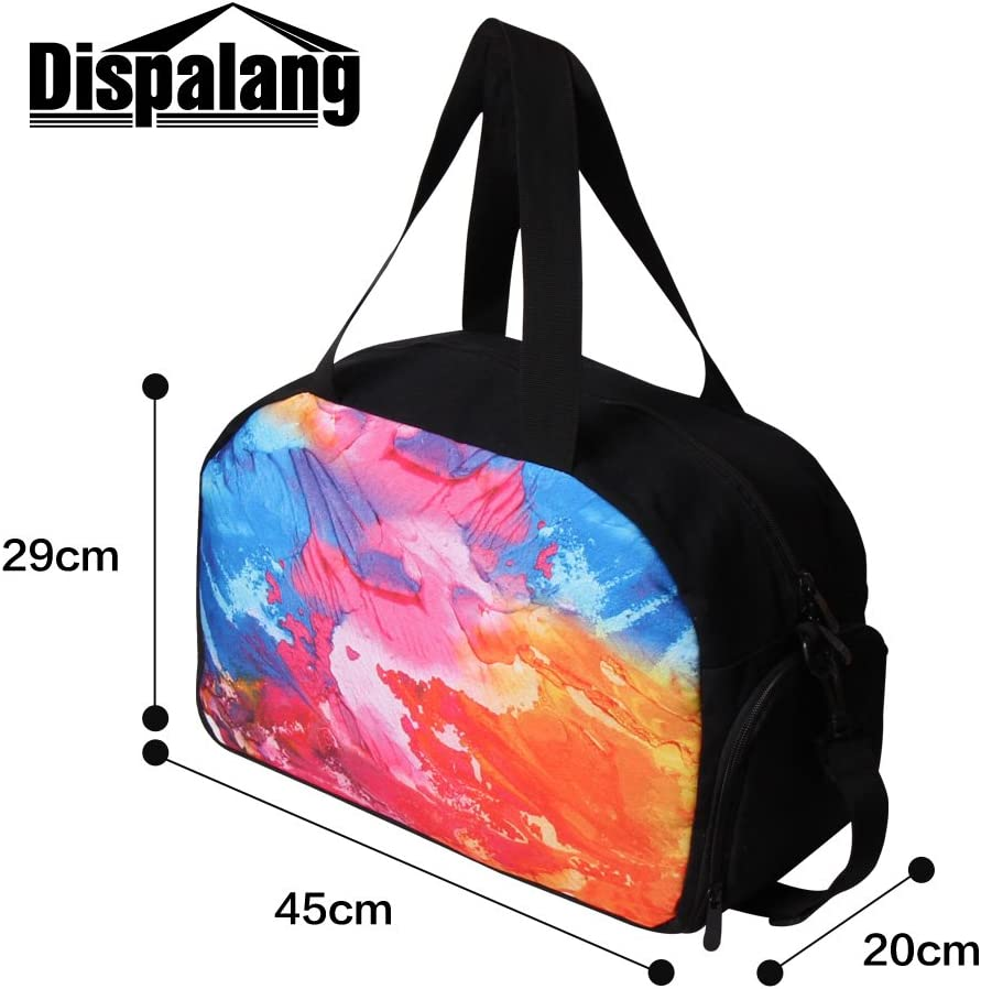 Generic Galaxy Printed Shoulder Gym Bags for Women Personalized Sports Duffle Bag for Men