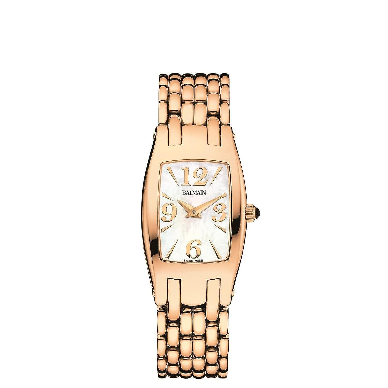 BalmainレディースファッションコレクションメタルブレスレットローズゴールドメッキケースクオーツMop Dial Watch b27993384 B019HMHO9G