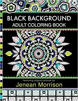 Amazon Black Background Adult Coloring Book 60