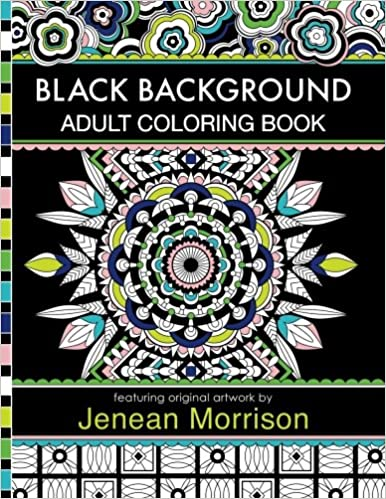 Amazon Com Black Background Adult Coloring Book 60 Coloring Pages