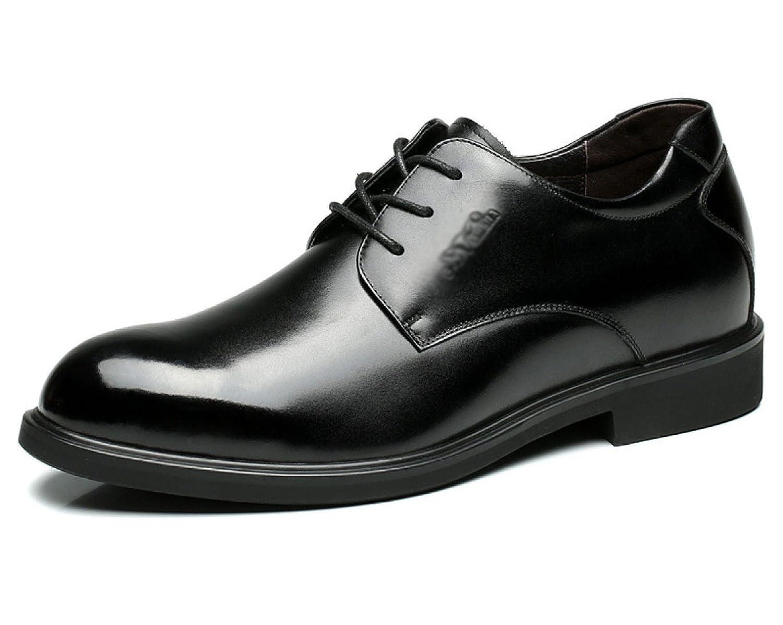Herrenschuhe New Business England Kleid Leder Schuhe Männer Erhöhte Schuhe Leder Kleid England Spitze Erste Schicht Lederschuhe schwarz da1d5d
